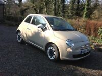 2012 Fiat 500 Colour Therapy 62reg (s/s) Beige 32,506 miles excellent condition, 1 lady owner