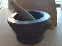 Large Granite Mortar and Pestle
