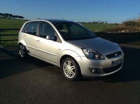 Ford Fiesta Ghia 1.6 automatic only 51,000 miles, Silver, 5door, great condition