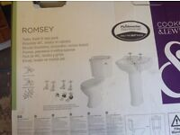 Romsey bathroom Basin/Pedastles new,