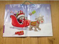 8 Christmas Gift Bags ( 2 Large Sized , 3 Medium Sized & 3 Bottle Bags)