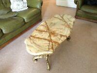 Beautiful onyx and gilt coffee table