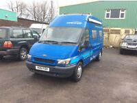 Ford transit motor home Auto 27000 miles from new in new condion