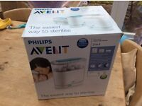 Almost new, boxed Philips Avent steriliser with tongue