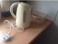 Clean,good working cream cordless kettle free to collector