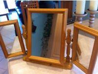 Pine 3 way dresser mirror