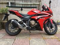 Selling my Honda cbr 500 r in very good condition reason for sale need a van for work.