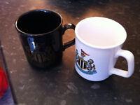 assorted mugs, ikea mugs, cups and saucers