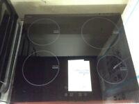 Beko black induction hob. RRP £299 12 month Gtee
