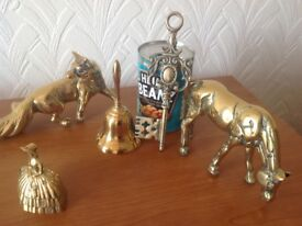 Brass Vintage Ornaments x 5 Excellent Condition