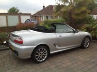 MGTF 135 2004 SILVER CONVERTIBLE WITH NEW M.O.T.