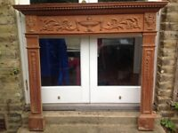 Pine Mantelpiece - attractive moulded pine mantelpiece/fire surround in good condition.