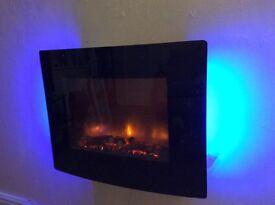 Remote Controlled 2KW Rotisserie Effect Fan Heater