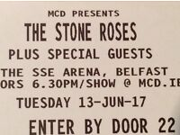 2x Stone Roses Tickets - SSE Arena, Belfast - 13/06/17 - £130 - FANTASTIC SEATS!