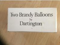 Two Dartington brandy glasses - unused