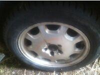 Set of 4 Avon winter tyres 215/55 R16 on Volvo S80 V70 alloy wheels 95% tread