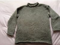Nepalese Mens Large 100% Wool Jumper XL