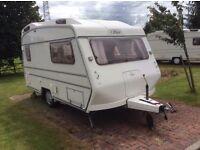 Carlight 13ft, 2 berth caravan in good condition
