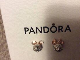 Pandora Micky & Minnie Charms For Necklace