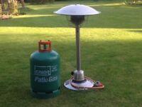 Homebase Portable Outdoor Table Top Gas Heater 899746 Nevada &Gas Bottle