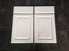 2 White Gloss Doors and Draw Fronts.