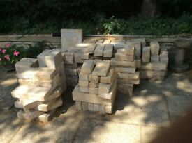 Used stone blocks