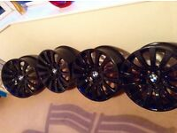4x 18 Inch Gloss Black Alloys Brand New Unused