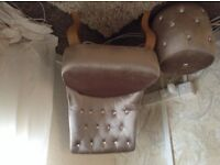 Glitz glam chair and stool