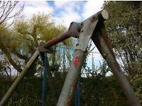 TP garden swing and frame