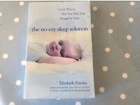 The No Cry Sleep Solution book. Gentle ways to help your baby sleep through the night.