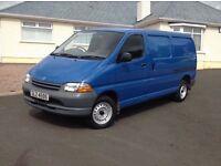 2000 Toyota Hiace LWB +++ 3 seat +++ PSVD +++ folding passenger seat +++ ideal for carpet fitter ++
