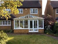 Complete wooden conservatory