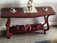Hall table in mahogany