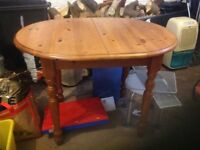 Small pine extendable dining table