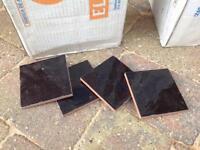 Gloss black tiles