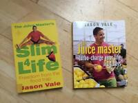 Two Jason Vale Books - Juicer - Slim 4 Life - The Juice Master
