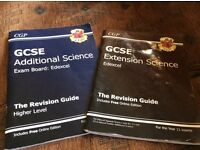 Science GCSE revision guides (edexcel) for extension and additional science
