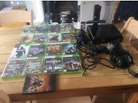 Xbox 360 250gb with games and controllers and Turtle Beach Headset £ 60 ono