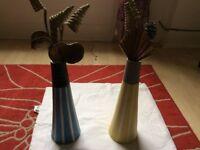 2 decorative vases flat clearance
