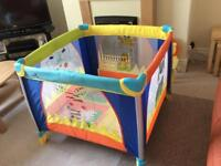 Playpen and high chair