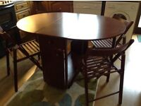 Dining/Kitchen folding Table and four chairs