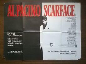 scarface ' original 1980s cinema poster