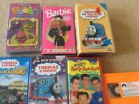 Children's videos & 2 x dvd's 1cd