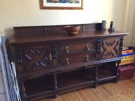 Large Oak Sideboard by Waring and Gillow