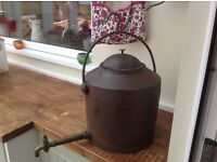 Large 4 Gallon Cast Iron Kettle / Stove Hanging Hot Water Pot