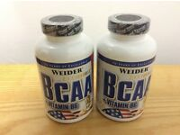 Weider BCAA + Vitamin B6 2 x 130 capsules New Sealed