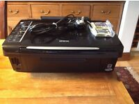 Epson Stylus SX205 colour printer and copier with spare TO713 and TO714 cartridges