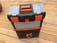 Black and decker toolbox on wheels