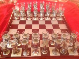 Lord Of The Rings Shot Glass Chess Set by Royal Selangor
