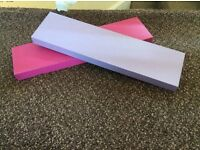 Pink and Purple Ohio shelves